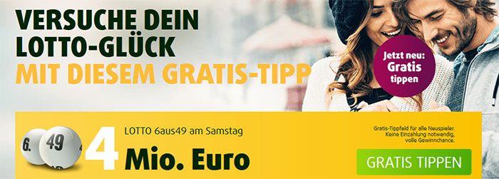 1 Tippfeld Lotto 6 aus 49 + 5 Rubellose für 1,99€  (Neukunden)