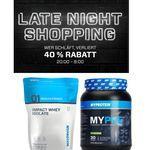 MYPROTEIN mit 40% Rabatt auf ausgewählte Artikel im Late Night Shopping