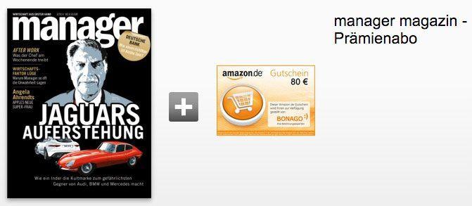 manager Magazin Jahresabo für 107,90€ + 80€ Gutschein