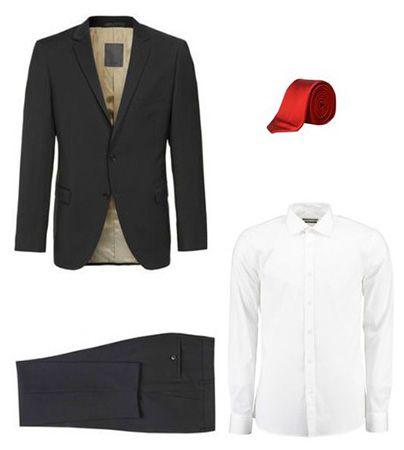 s.Oliver Anzug Set (Anzug, Krawatte, Hemd) für 244,88€