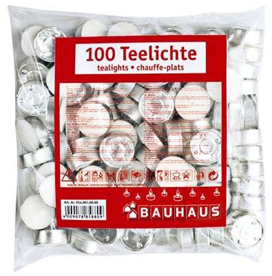 100 weiße Teelichte für 2,99€ inkl. VSK