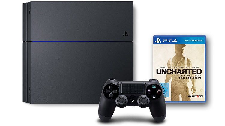 PlayStation 4 500 GB + Uncharted: The Nathan Drake Collection für 269,97€