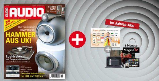 AUDIO Jahresabo AUDIO Jahresabo für effektiv 27€ + 6 Monate Magine TV Premium gratis