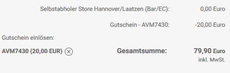 AVM Gutschein AVM Fritz!Box 7430 für 79,90€ (statt 92€)