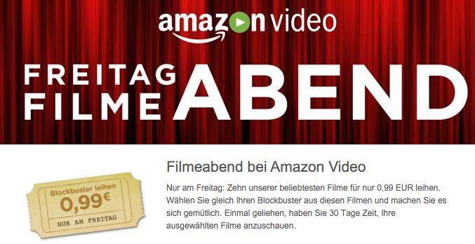 Ausgewählte Filme in HD für 0,99€ ausleihen beim Amazon Instant Video Filmeabend