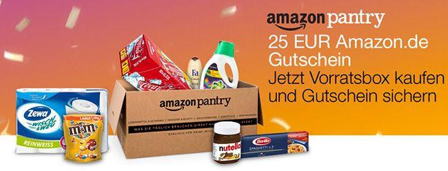 Amazon Pantry Vorratsbox kaufen und 25€ Gutschein geschenkt bekommen