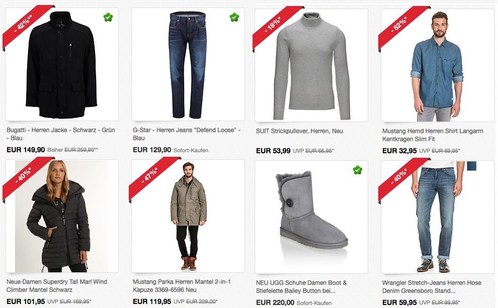 Günstige Marken Kleidung dank 30% ebay Gutschein