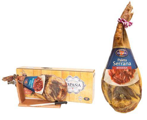 Geschenkset Serrano Schinkenkeule (7 Monate gereift) Bock & Messer für 48€ inkl. Versand