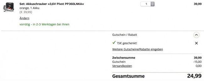 Black & Decker PP360LNKA Akkuschrauber mit 98 tlg. Zubehör ab 24,99€ (statt 47€)