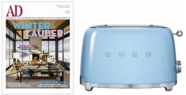 Jahresabo Architectural Digest + SMEG Toaster (Wert von 136€) für 96€