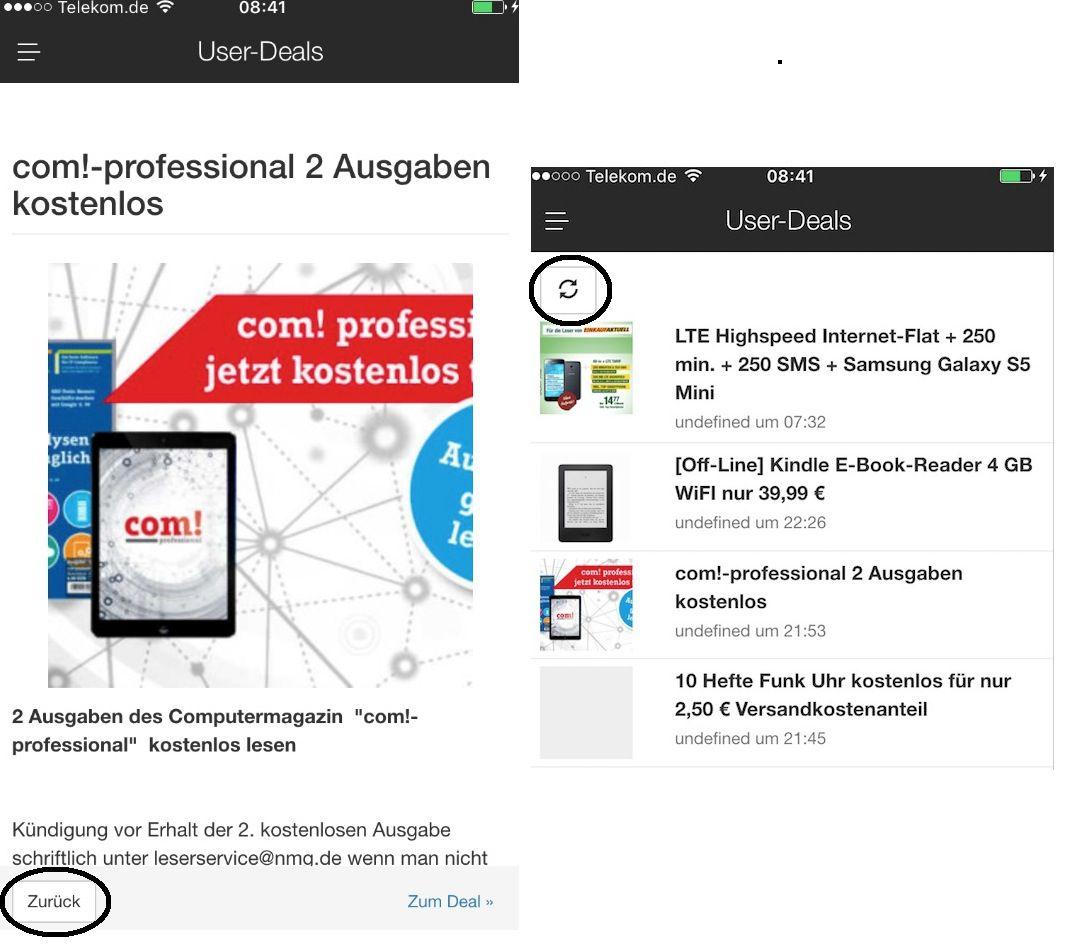 Info: paar Features der neuen App.