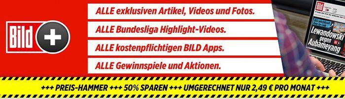 Bildschirmfoto 2016 07 01 um 14.36.48 50% Rabatt: 1 Jahr BILDplus für nur 2,49€/Monat