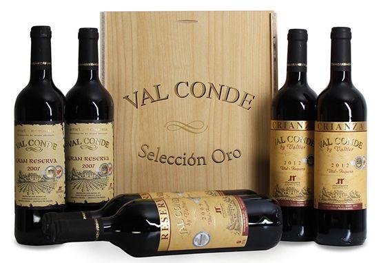 6 Flaschen Val Conde Seleccion Oro in Holzkiste für 39,99€   goldprämiert!