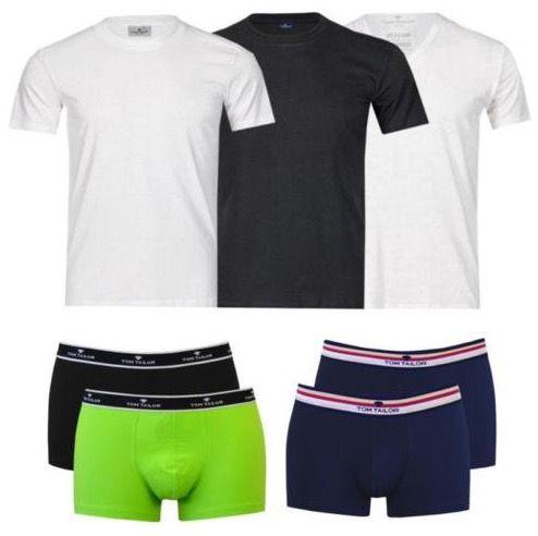 2er Pack Tom Tailor T Shirt oder Boxershort für je 12,95€