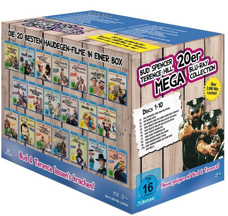 Bud Spencer & Terence Hill   Mega Blu ray Collection für 53,33€ (statt 96€)