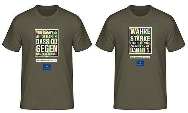 Gratis Bundeswehr T Shirt Bestellen 4 Sprüche Verfügbar