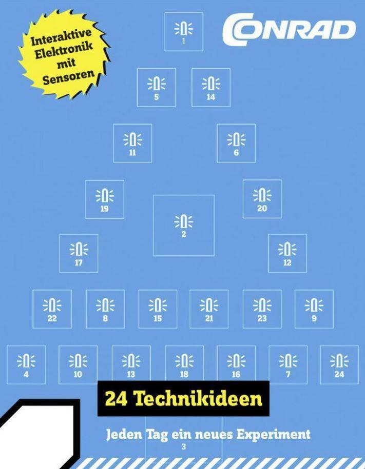 Conrad Adventskalender 2016   mit 24 Experimenten ab 14 Jahren für 9,99€