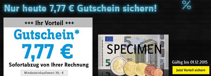 Nur heute! 7,77€ Conrad Gutschein mit 39€ MBW