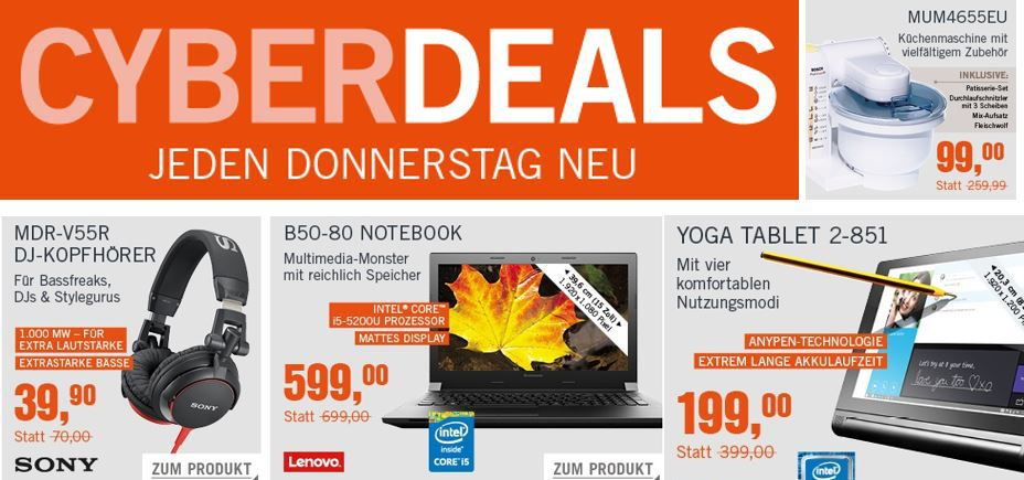 Lenovo B50 45 MCD32GE Notebook für 329€ in den Cyberdeals