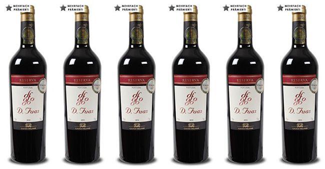 6 Flaschen D. Fuas Vinho Regional Reserva für 25,89€   mehrfach goldprämiert!