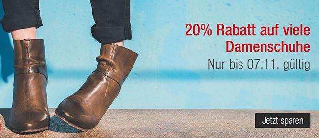 Damenschuhe 20% Rabatt auf Damenschuhe + 10% Gutschein bei Galeria Kaufhof