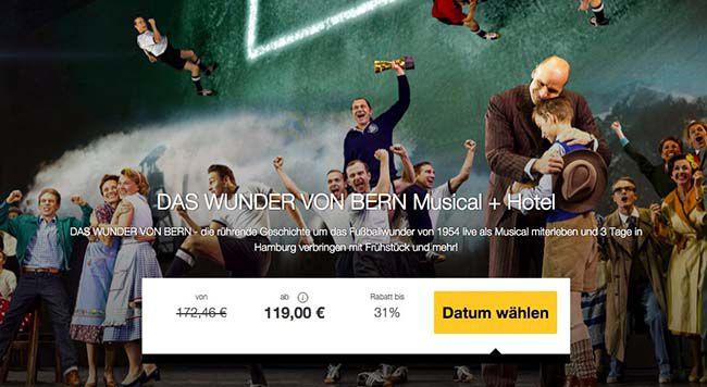 Das Wunder von Bern Musical Ticket