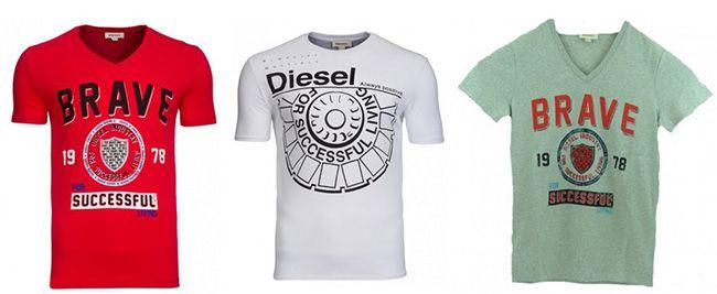 Diesel Herren T Shirts für je 9,99€ (statt 16€)