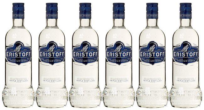 Preisfehler? 6 Flaschen Eristoff Wodka 0,7 Liter ab 22,44€ (statt 65€)
