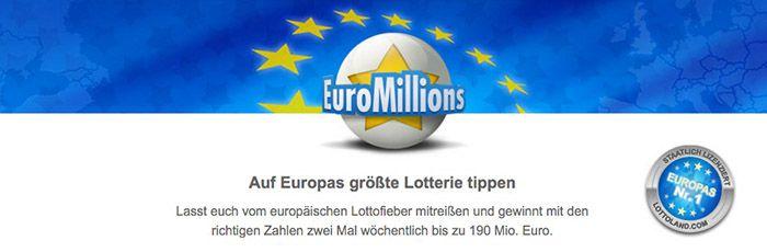 EuroMillions1 Neukunden: 2 EuroMillions Tipps + 10 Rubbellose für 1,99€   39 Mio. Jackpot!