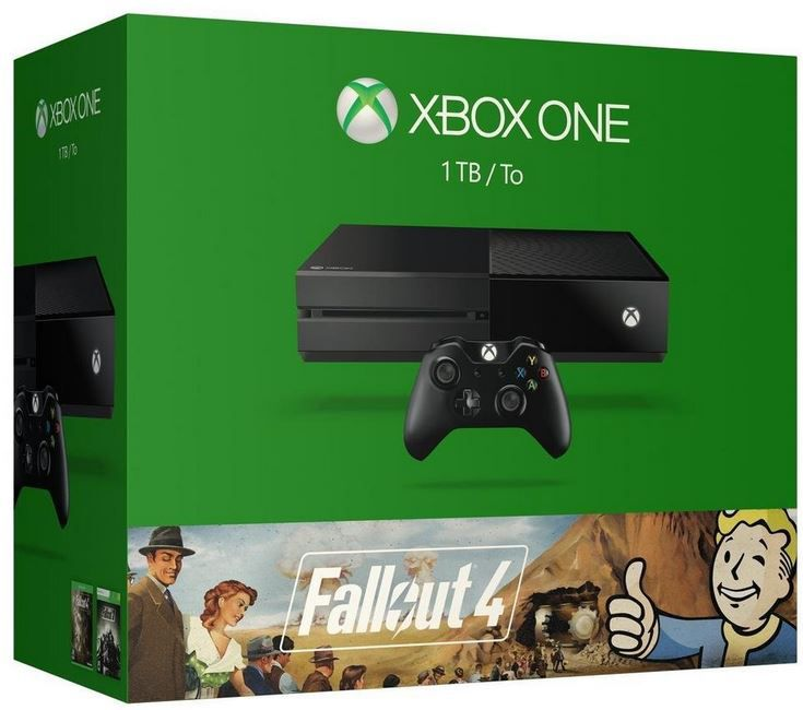 Fallout Xbox One 1TB + Rise of the Tomb Raider + Fallout 3 + Fallout 4 für 345,81€ (statt 407€)