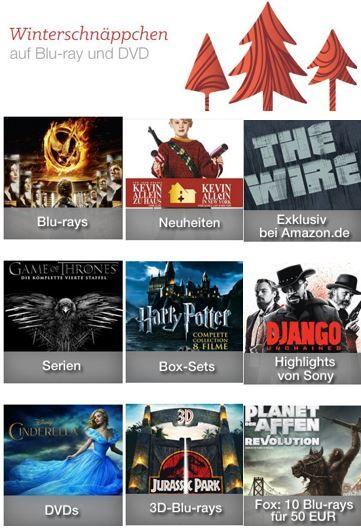 Winterschnäppchen & 10 Blu rays für 50€ und mehr Amazon Cyberweek DVD und Blu ray Aktionen