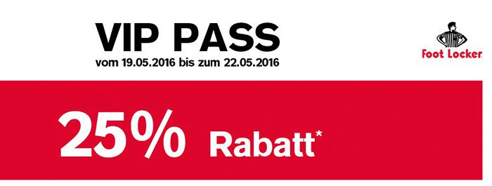 Foot Locker VIP Pass mit 25% Rabatt auf fast Alles