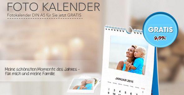 Fotokalender in DIN A5 Fotokalender in DIN A5 Form für 4,99€