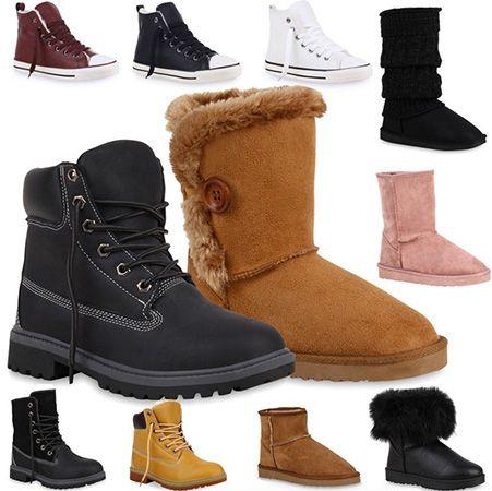 Gefütterte Damen Herren Boots Gefütterte Damen & Herren Boots, Schlupfstiefel und Sneaker für je 17,90€