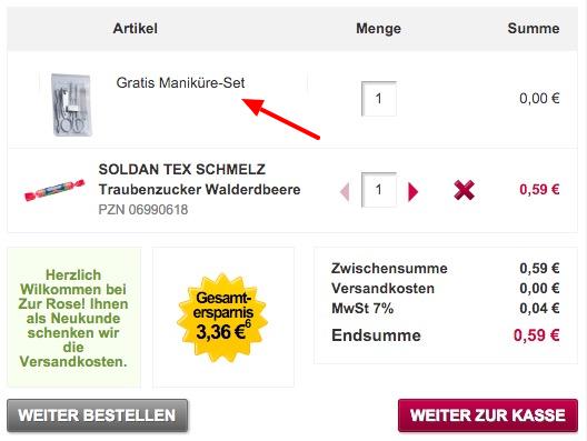 Gratis Maniküre Set bei Zur Rose   versandkostenfrei für Neukunden!