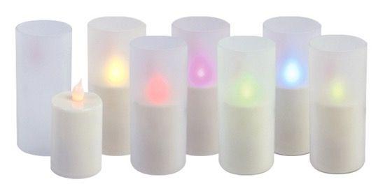 HQ LED RGB Kerzen 12 HQ LED RGB Kerzen mit Fernbedienung für 17,99€ (statt 35€)