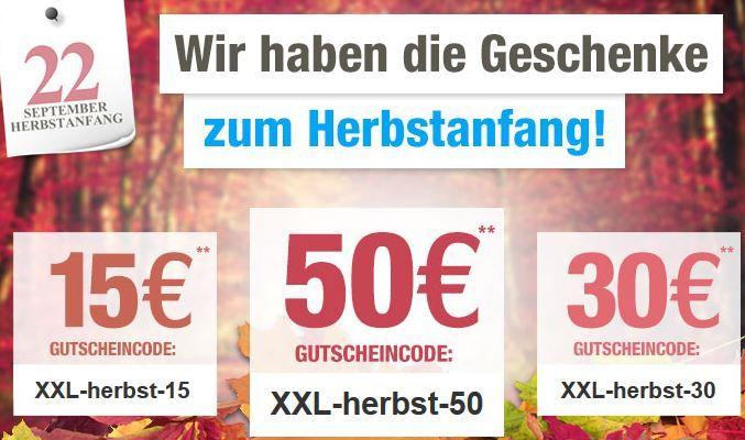 Herbst Rabatt Bis zu 50€ Rabatt bei GartenXXL dank Gutscheincode bis Mitternacht