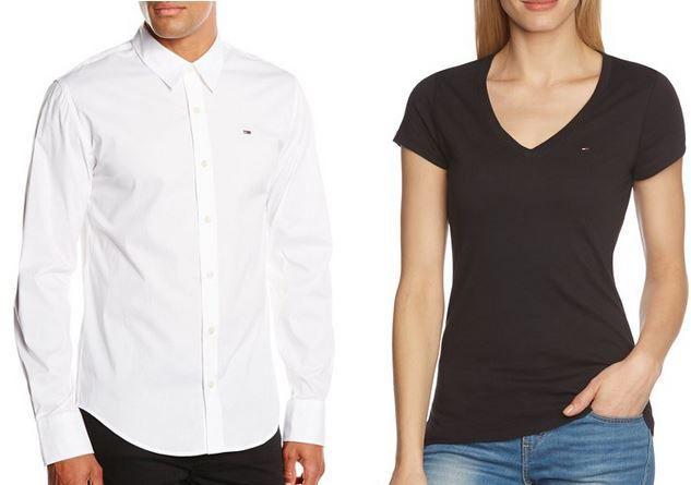 Hilfiger Sabim   Denim Herren Hemd für 32,99€ und Hilfiger Denim Damen T Shirt ab 19,99€
