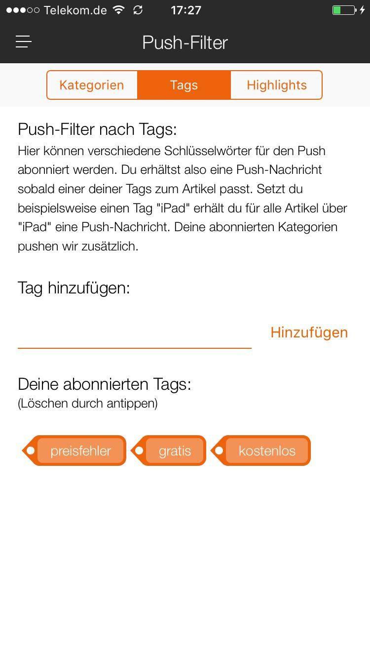 Infos zu der neuen App