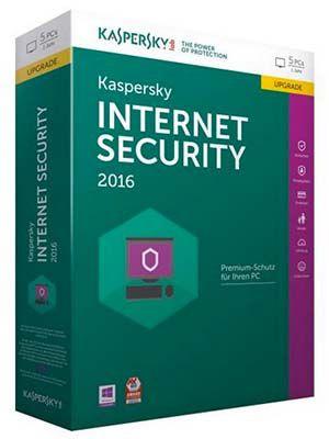 Kaspersky Internet Security 2016 Upgrade (1 Jahr, 5 User) für 35€ (statt 46€)