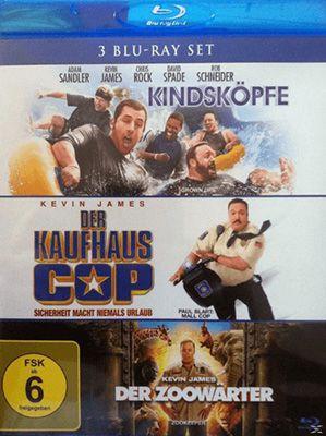 Der Kaufhaus Cop + Kindsköpfe + Der Zoowärter Blu rays für 9,99€