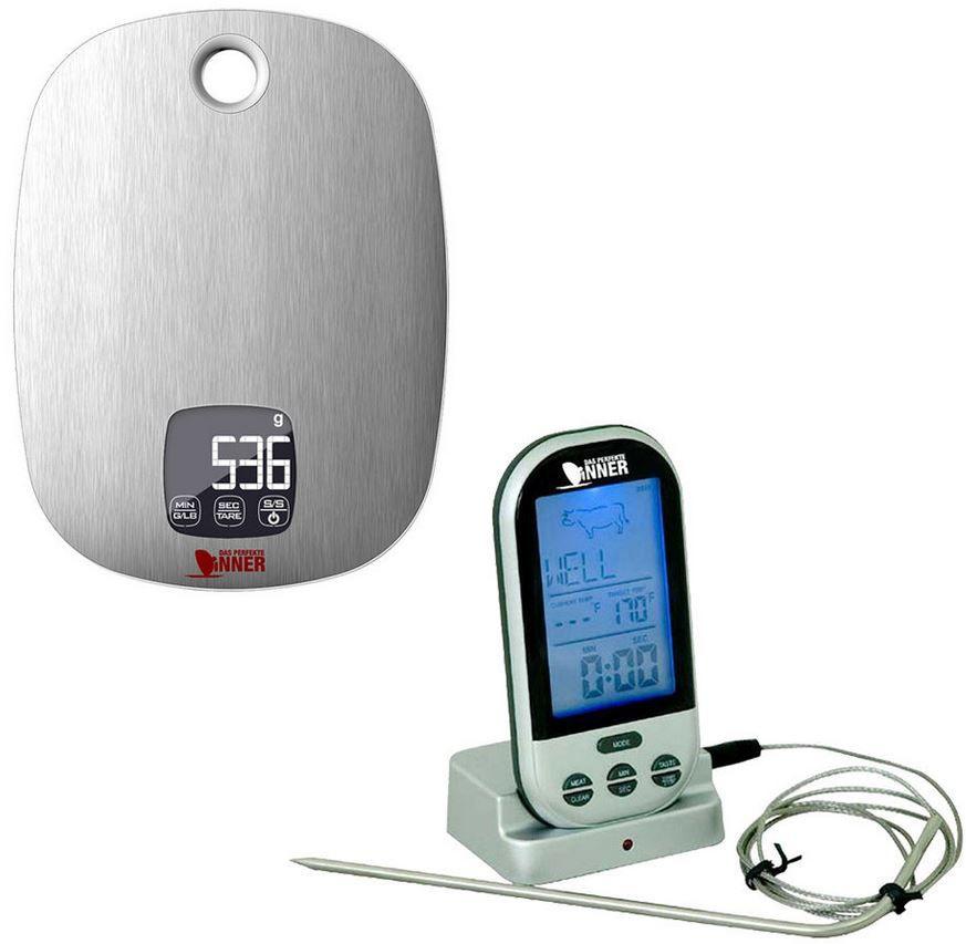 Technoline Funk Bratenthermometer und Küchenwaage für 24,99€