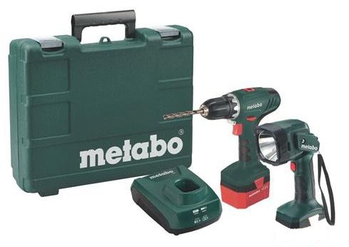 Metabo BS 12 NiCd Akkuschrauber 1,7Ah inkl. Handlampe statt 85€ für 49,99€