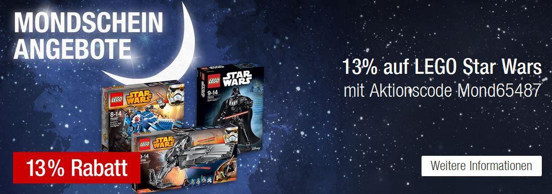 13% Rabatt LEGO Star Wars @ Galeria Kaufhof Mondschein Angebote