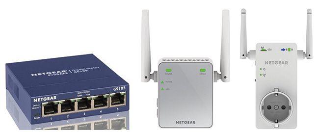 Netgear Produkte im Angebot   z.B. 5 Port Gigabit Switch ab 16,45€ (statt 21€)