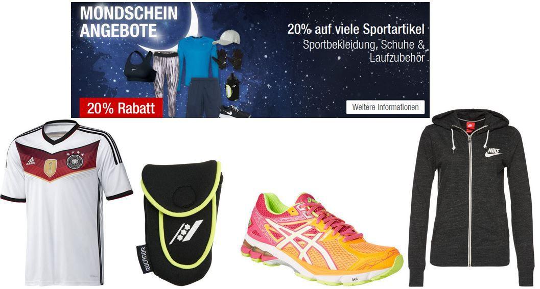 Galeria Kaufhof Mondschein Angeboten mit 20% Rabatt auf Sportbekleidung, Sportschuhe & Laufzubehör