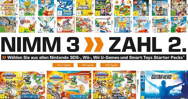 Saturn: Nimm 3 zahl 2 Nintendo Aktion (Wii, Wii U, 3DS)