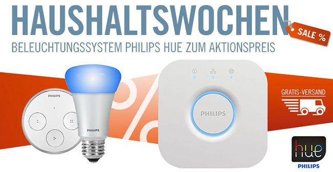 Philips Hue Angebote in den Cyberport Haushaltswochen