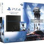 PlayStation 4 – 1TB [CUH-1216B] + Star Wars Battelfront + Film für 249€ (statt 385€)