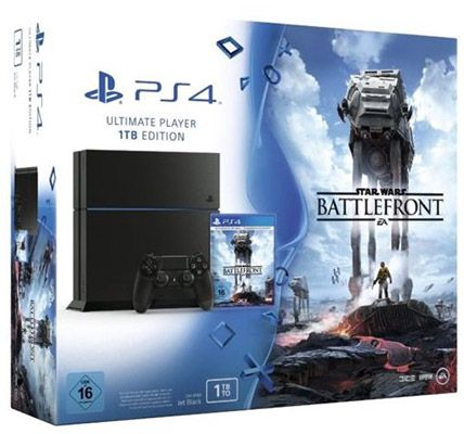 PlayStation 4 PlayStation 4   1TB [CUH 1216B] + Star Wars Battelfront + Film für 249€ (statt 299€)